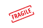 Fragile Sticker Button
